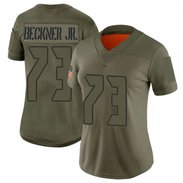 Women's Nike Tampa Bay Buccaneers Terry Beckner Jr. Camo 2019 Salute to Service Jersey - Limited