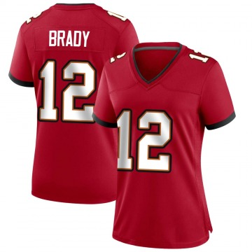 Women's Nike Tampa Bay Buccaneers Tom Brady Red Team Color Jersey - Game