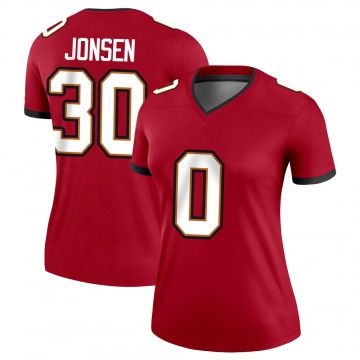 Women's Nike Tampa Bay Buccaneers Travis Jonsen Red Jersey - Legend