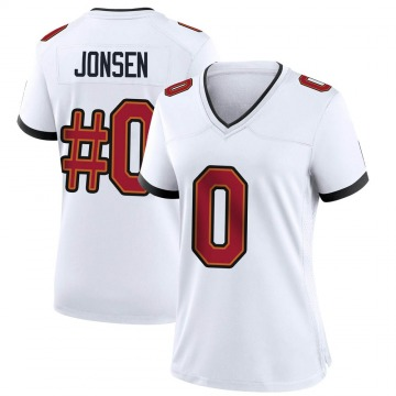 Women's Nike Tampa Bay Buccaneers Travis Jonsen White Jersey - Game