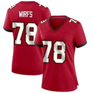 Women's Nike Tampa Bay Buccaneers Tristan Wirfs Red Team Color Jersey - Game