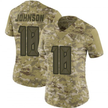 Women's Nike Tampa Bay Buccaneers Tyler Johnson Camo 2018 Salute to Service Jersey - Limited