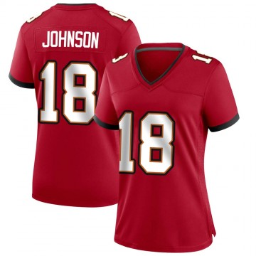 Women's Nike Tampa Bay Buccaneers Tyler Johnson Red Team Color Jersey - Game