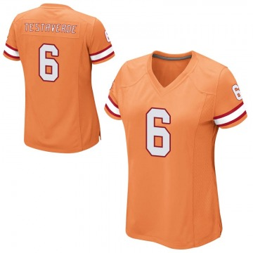 Women's Nike Tampa Bay Buccaneers Vincent Testaverde Orange 6 Alternate Jersey - Game