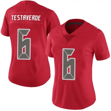 Women's Nike Tampa Bay Buccaneers Vincent Testaverde Red 6 Team Color Vapor Untouchable Jersey - Limited