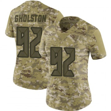 Women's Nike Tampa Bay Buccaneers William Gholston Camo 2018 Salute to Service Jersey - Limited