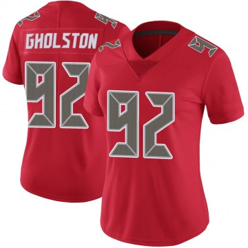 Women's Nike Tampa Bay Buccaneers William Gholston Red Color Rush Jersey - Limited