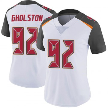 Women's Nike Tampa Bay Buccaneers William Gholston White Vapor Untouchable Jersey - Limited