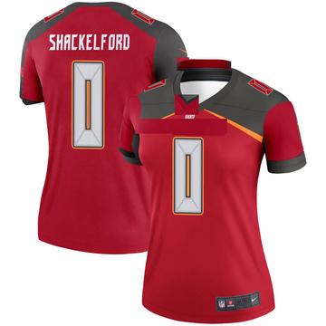 Women's Nike Tampa Bay Buccaneers Zach Shackelford Red Jersey - Legend