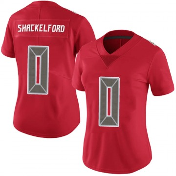 Women's Nike Tampa Bay Buccaneers Zach Shackelford Red Team Color Vapor Untouchable Jersey - Limited