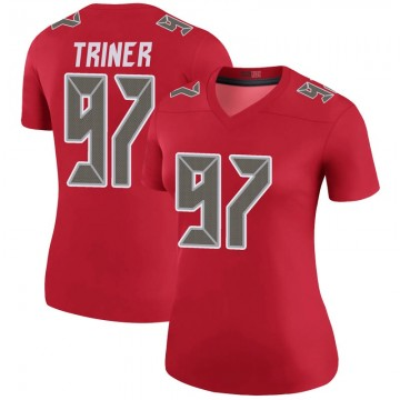 Women's Nike Tampa Bay Buccaneers Zach Triner Red Color Rush Jersey - Legend