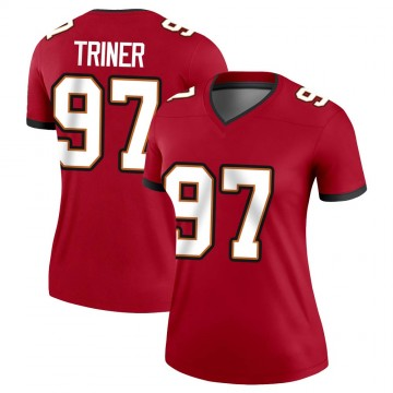 Women's Nike Tampa Bay Buccaneers Zach Triner Red Jersey - Legend