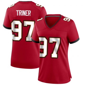 Women's Nike Tampa Bay Buccaneers Zach Triner Red Team Color Jersey - Game