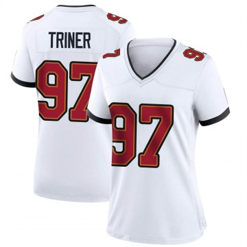 Women's Nike Tampa Bay Buccaneers Zach Triner White Jersey - Game