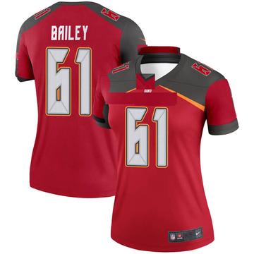 Women's Nike Tampa Bay Buccaneers Zack Bailey Red Jersey - Legend