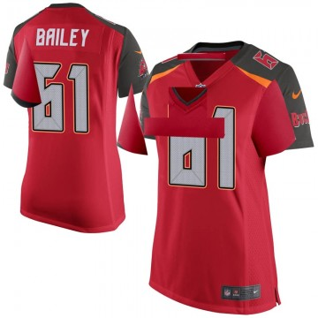 Women's Nike Tampa Bay Buccaneers Zack Bailey Red Team Color Jersey - Game