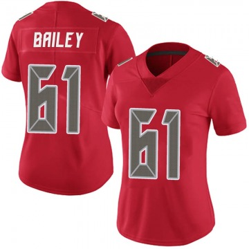 Women's Nike Tampa Bay Buccaneers Zack Bailey Red Team Color Vapor Untouchable Jersey - Limited