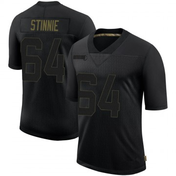 Youth Nike Tampa Bay Buccaneers Aaron Stinnie Black 2020 Salute To Service Jersey - Limited