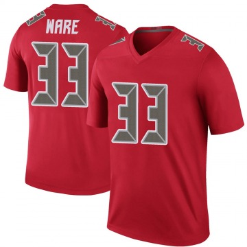 Youth Nike Tampa Bay Buccaneers Aca'Cedric Ware Red Color Rush Jersey - Legend