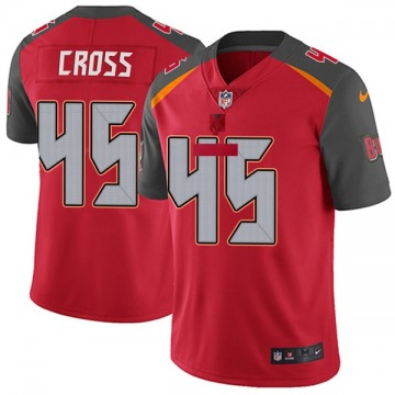 Youth Nike Tampa Bay Buccaneers Alan Cross Red Team Color Vapor Untouchable Jersey - Limited