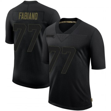 Youth Nike Tampa Bay Buccaneers Anthony Fabiano Black 2020 Salute To Service Jersey - Limited