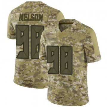 Youth Nike Tampa Bay Buccaneers Anthony Nelson Camo 2018 Salute to Service Jersey - Limited