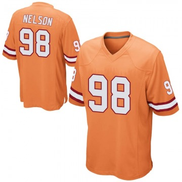 Youth Nike Tampa Bay Buccaneers Anthony Nelson Orange Alternate Jersey - Game
