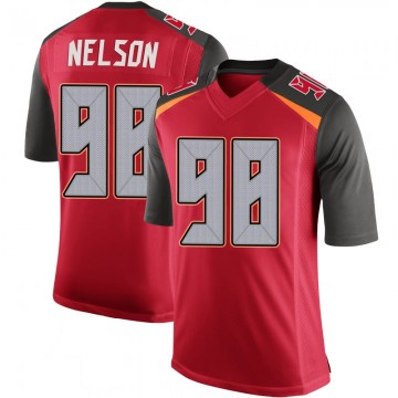 Youth Nike Tampa Bay Buccaneers Anthony Nelson Red 100th Vapor Jersey - Limited