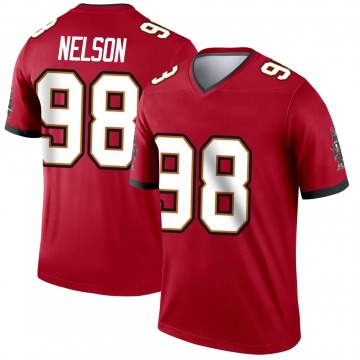 Youth Nike Tampa Bay Buccaneers Anthony Nelson Red Jersey - Legend