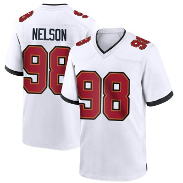 Youth Nike Tampa Bay Buccaneers Anthony Nelson White Jersey - Game