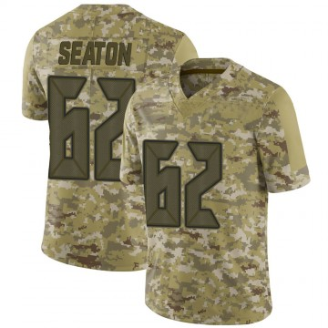 Youth Nike Tampa Bay Buccaneers Brad Seaton Camo 2018 Salute to Service Jersey - Limited