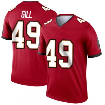 Youth Nike Tampa Bay Buccaneers Cam Gill Red Jersey - Legend