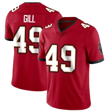 Youth Nike Tampa Bay Buccaneers Cam Gill Red Team Color Vapor Untouchable Jersey - Limited