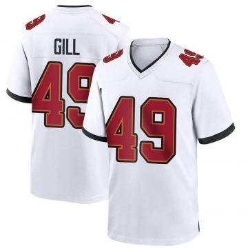 Youth Nike Tampa Bay Buccaneers Cam Gill White Jersey - Game