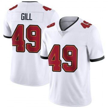 Youth Nike Tampa Bay Buccaneers Cam Gill White Vapor Untouchable Jersey - Limited