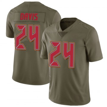Youth Nike Tampa Bay Buccaneers Carlton Davis Green 2017 Salute to Service Jersey - Limited