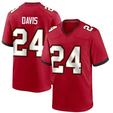 Youth Nike Tampa Bay Buccaneers Carlton Davis Red Team Color Jersey - Game