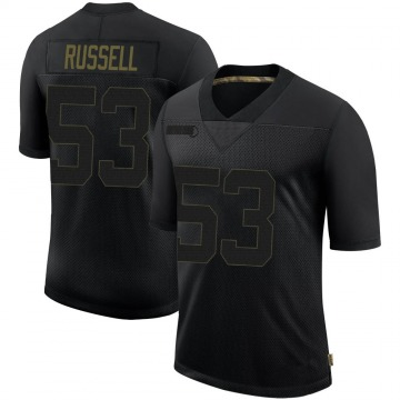 Youth Nike Tampa Bay Buccaneers Chapelle Russell Black 2020 Salute To Service Jersey - Limited