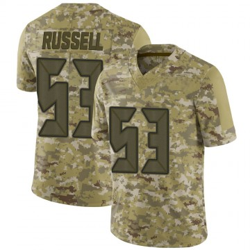 Youth Nike Tampa Bay Buccaneers Chapelle Russell Camo 2018 Salute to Service Jersey - Limited