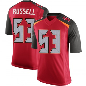 Youth Nike Tampa Bay Buccaneers Chapelle Russell Red 100th Vapor Jersey - Limited