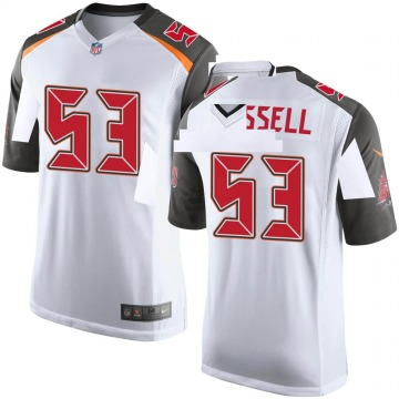 Youth Nike Tampa Bay Buccaneers Chapelle Russell White Jersey - Game