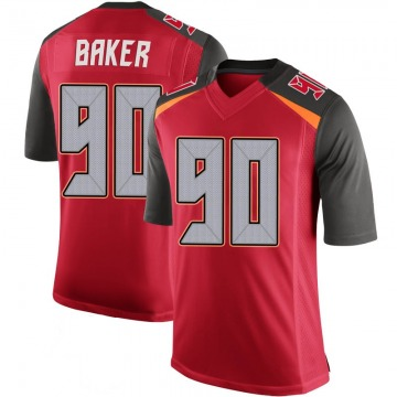 Youth Nike Tampa Bay Buccaneers Chris Baker Red 100th Vapor Jersey - Limited