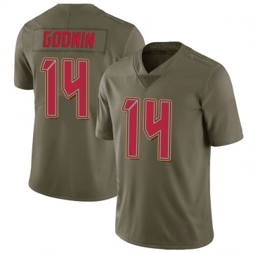 Youth Nike Tampa Bay Buccaneers Chris Godwin Green 2017 Salute to Service Jersey - Limited