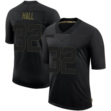 Youth Nike Tampa Bay Buccaneers Deiondre' Hall Black 2020 Salute To Service Jersey - Limited