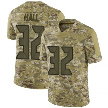 Youth Nike Tampa Bay Buccaneers Deiondre' Hall Camo 2018 Salute to Service Jersey - Limited