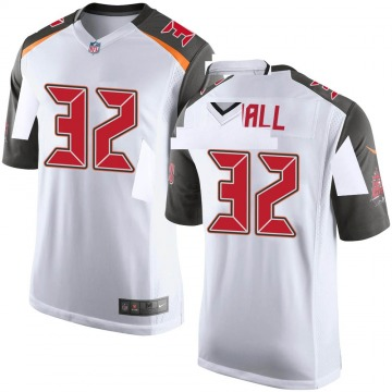 Youth Nike Tampa Bay Buccaneers Deiondre' Hall White Jersey - Game