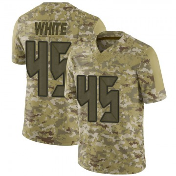 Youth Nike Tampa Bay Buccaneers Devin White White Camo 2018 Salute to Service Jersey - Limited