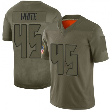 Youth Nike Tampa Bay Buccaneers Devin White White Camo 2019 Salute to Service Jersey - Limited
