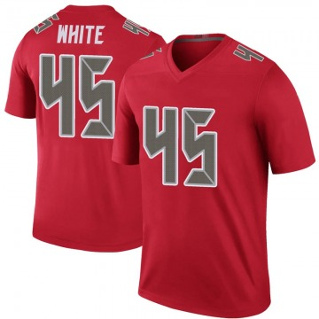 Youth Nike Tampa Bay Buccaneers Devin White White Color Rush Red Jersey - Legend