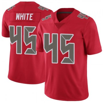 Youth Nike Tampa Bay Buccaneers Devin White White Color Rush Red Jersey - Limited